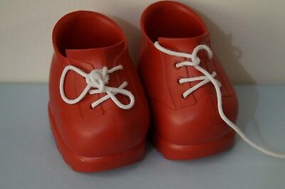 CPK red lace-up platform doll shoes (fits My Child & Cabbage Patch Kids dolls)