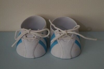 CPK blue stripe sports doll shoes (fits My Child & Cabbage Patch Kids dolls)