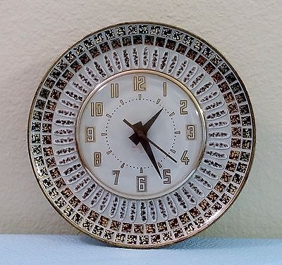 1950's Spartus Electric Atomic Wall Clock w/ Mosaic Design; Excellent Condition