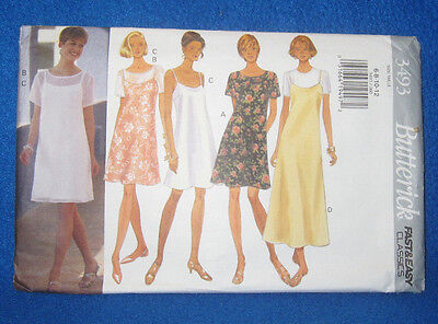 1994 Butterick Sewing Pattern 3493 Easy to Sew Ladies Dresses Sizes 6-12