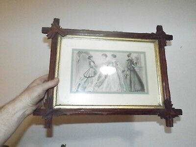 Antique 1800s Carved Eastlake Walnut Picture Frame w/Hand Carved Oak Leaves WOW