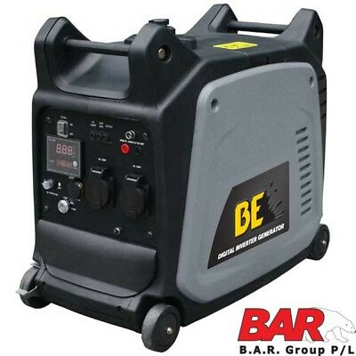 BE Mobile Compact Inverter Generator - 3.5kVa (Max 3500W/240V AC) Clean Power