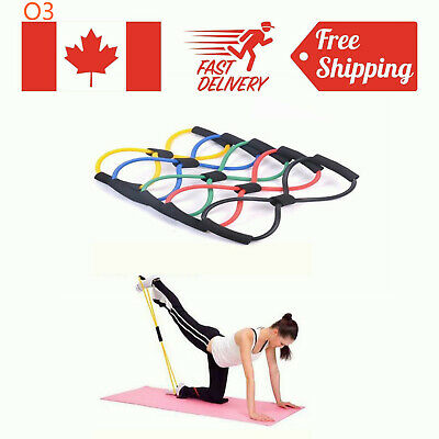 Resistance Training Bands Rope Tube Workout Stretch Exercise For Yoga