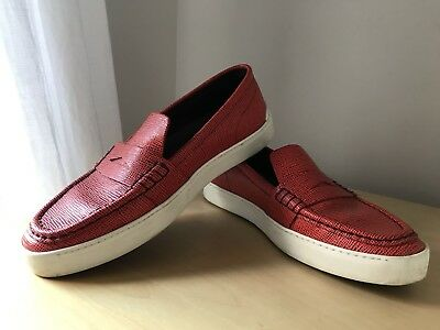 2fca966b695 RAG   BONE women s Colby loafers leather slip on sneakers Red EU 40 US 10