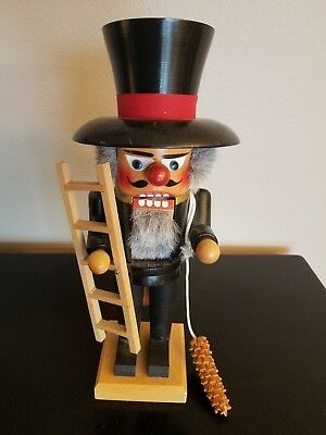"Holzkunst Christian Ulbricht Nutcracker 11"" Chimney Sweep Vintage"