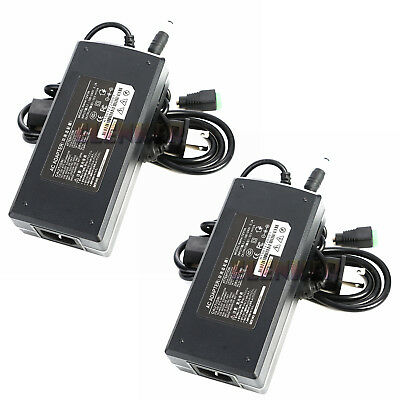 2X New 12V 10A 120W Power Supply Adapter For 3528 5050 Flexible LED Strip Light