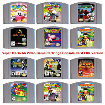 Super Mario 64 Video Game Cartridge Console Card EUR Version For Nintendo N64