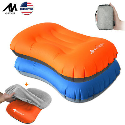 Inflatable Portable Camping Pillow Cover Set Ultralight Cushion Travel Hiking