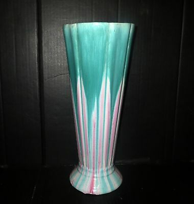 Antique Monumental Asian BLUE GLAZE FLOWER PORCELAIN VASE Pottery Japan Chinese