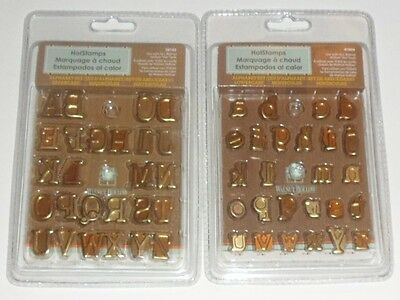 Walnut Hollow Creative HOTSTAMPS Alphabet Sets CAPS & Small Letters. 2 sets