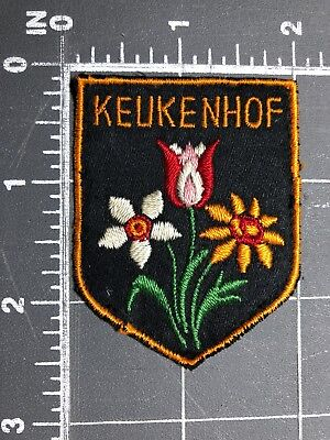 Vintage Keukenhof Patch Shield Flowers Garden Of Europe Netherlands Holland Park