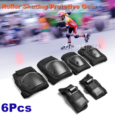 6x Children Knee Elbow Wrist Protective Pad Gear Combat Skate Cycling Protector