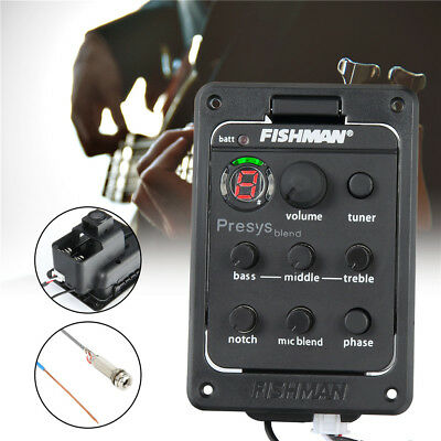 Fishman Presys Blend EQ 301 Acoustic Guitar Preamp Piezo Pickup Tuner Mic Beat #