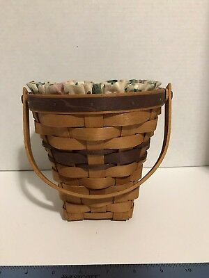 Longaberger 1994 May Series Lilac Basket Combo  w/ Cloth Liner & Protector