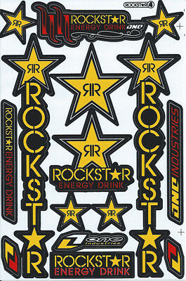 New Rockstar Energy Motocross Racing Graphic stickers/decals. 1 sheet (st196)