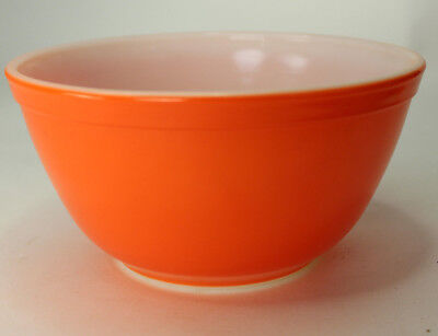 Vintage Pyrex Orange 1 1/2 Qt Mixing / Nesting Bowl 402