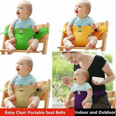 Baby Chair Seat Safety Belts Portable Solid Infant Dining Lunch Feeding Harness