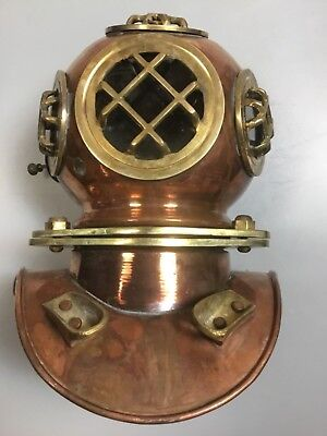 Copper Brass Solid Antique reproduction Divers Diving Helme decor .