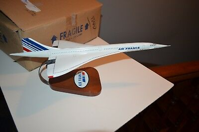 Concord Air France Wood Model  Display Pacific Aircraft  Plane