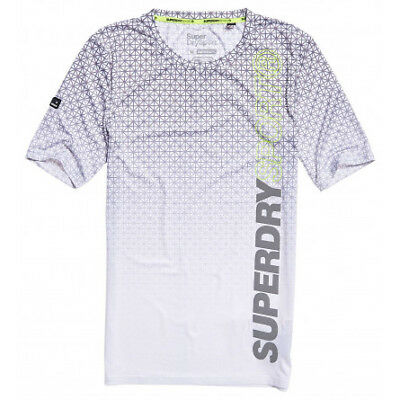 T-shirt Superdry Sport Athletic AOP white geo star fade