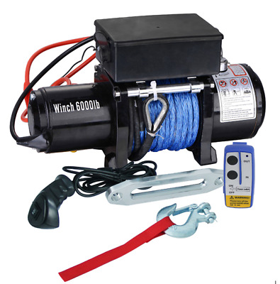 Winch, 6000lb Agricultural Machinery Winch, Electric Truck Winch 12 v, 2 remotes