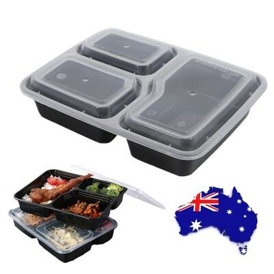 20X Microwave Safe Plastic Meal Prep Container Lunch Box Food Storage With Lid
