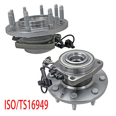2Pcs Wheel Hub Bearing Assembly Front for Chevy GMC Sierra 2500HD 3500HD 4WD
