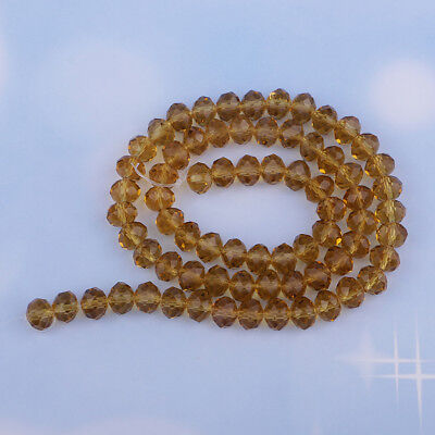 Lots Rondelle Faceted Crystal Loose Spacer Beads Beading Supplies Bracelet
