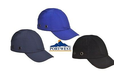 Portwest Bump cap Head Protection Vented Breath ability Metallic Hole  PW59