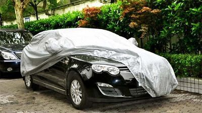 100% Waterproof Large Full Car Cover Heavy Duty Breathable UV Protection Sliver