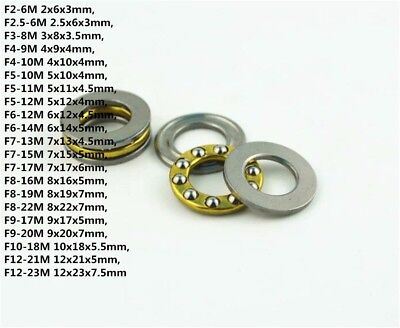 10PCS F2-6M To F12-23M Mini 3-in-1 Plane Axial Ball Bearing Thrust Bearing