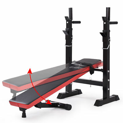 Adjustable Folding Sit Up Weight Bench Barbell Dip Lifting Chest Press UK