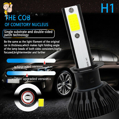 H1 CREE LED Headlight Kit 110W 225000LM Hi/Lo Beam Bulb 6000K Power Super White