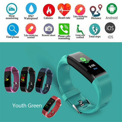 Fitness Activity Tracker ID115HR PLUS Smart Sport Watch Band For Android iphone