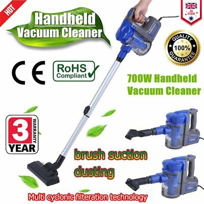 3 in 1 Vacuum Cleaner Blue 700W Hand Held Upright Stick Bagless Corded Vac Q1Q