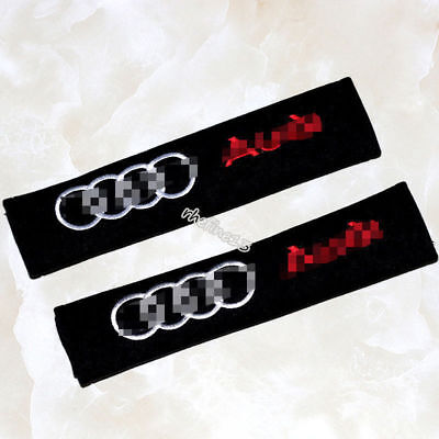 2pc Car Seat Belt Cover Shoulder Cushion Pads for All Audi -A3 A4 A5 A6 A8 TT RS