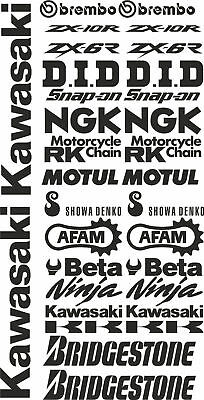 adesivi Aufkleber STICKER decal sponsor tecnici moto kawasaki kit set technical
