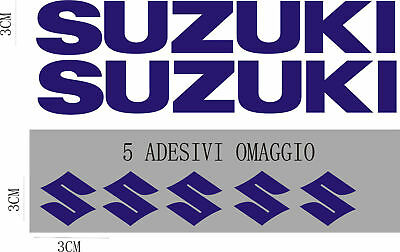 kit 2 SUZUKI + 5 logo GSXR STICKERS decals logo GSX R RR