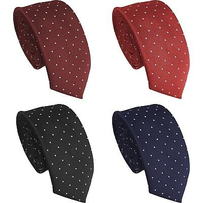 *BRITISH MADE* Small Polka Dot Spotted Mens Casual Skinny Tie
