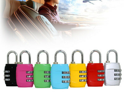 Code Lock 3 Digit For Safe Luggage Suitcase Bag When Travelling Resettable