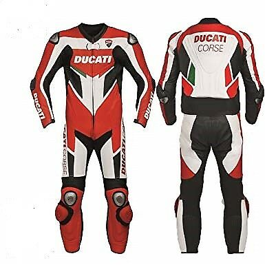 Ducati Motorbike Racing Leather Suit for motorcycle ride CE Approved