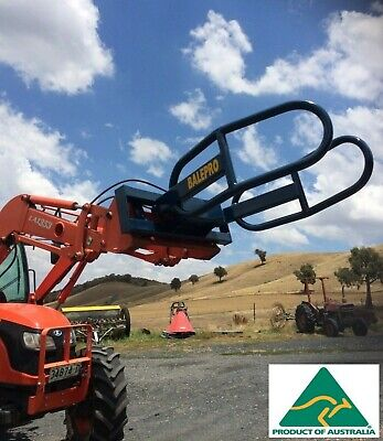 Silage Grab round bale euro hitch front end loader attachment hay feed handler