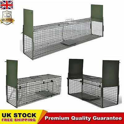 Live Catch Trap with 1 Door / 2 Doors Humane Cat Fox Trap Small Mesh Holes Patio