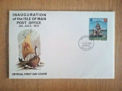 Isle of Man - First Day Cover -INAUGURATION of the POST OFFICE-1973 fdc