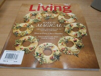 Martha Stewart Living magazine DEC 2018 Crepe-Paper Wrapping, Party Menus, Gifts
