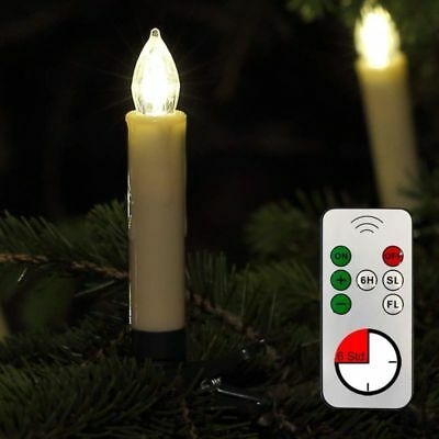 Wireless LED Candles 30er Fairy Lights Candles Christmas Tree Candles Beige