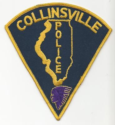 Collinsville ILLINOIS IL Police patch OLD purple indian chief Collin