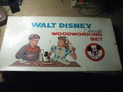 Vintage Walt Disney Character Woodworking Set in Box