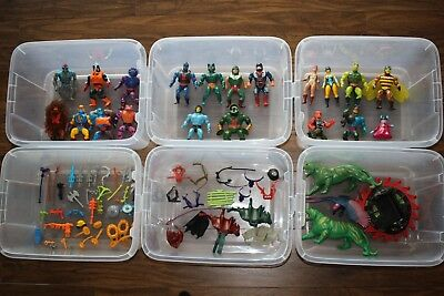 Lot of 23 rare vintage He-man action figures Mattel MOTU Masters of the Universe