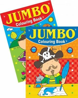 Jumbo Assorted colouring Book A4 150 Page Fun Picture Learning Children 1 & 2